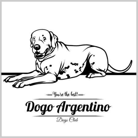 Dogo Argentino Dog - vector illustration for t-shirt, logo and template badges