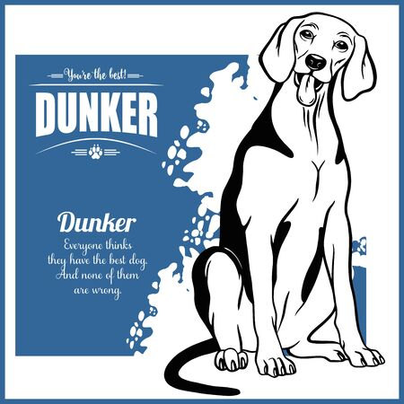 Dunker - vector template for t-shirt, logo and badges