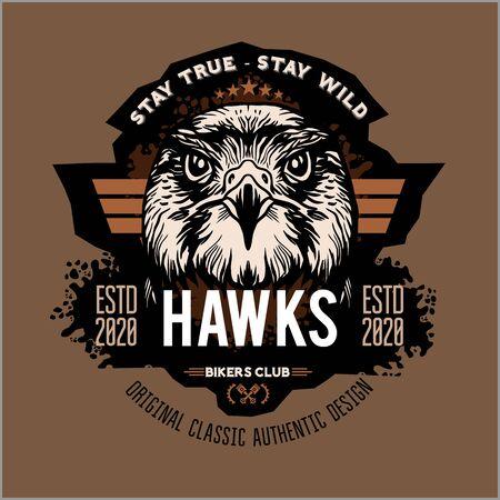 Hawks head logo Template, Hawk mascot graphic Logo