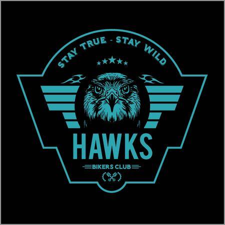 Hawks head logo Template, Hawk mascot graphic