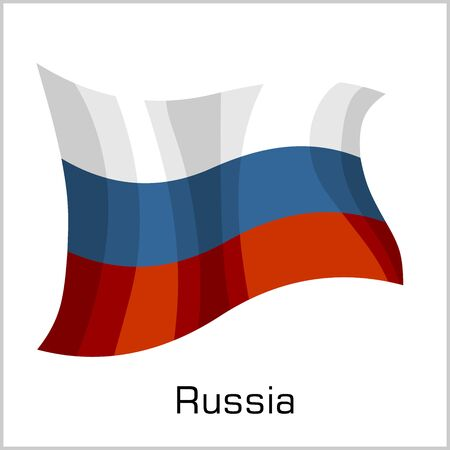 Russia flag, flag of Russian Federation vector illustration