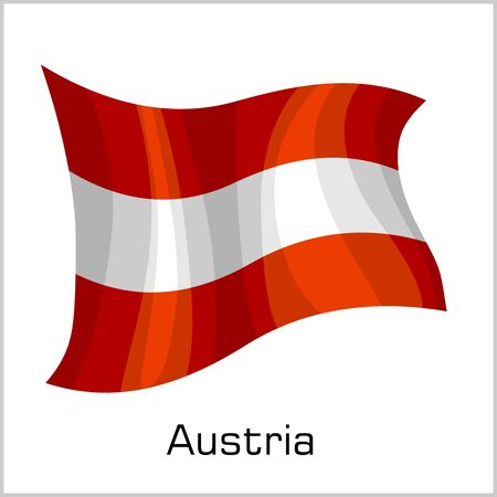 Austrian flag, flag of Austria vector illustration 向量圖像