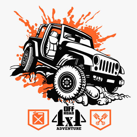 Off road car template - vector stock