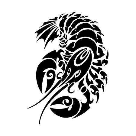 Tribal Crayfish. Sea Monster SVG Digital - tribal, tattoo Cricut, Cameo, Silhouette