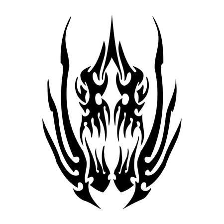 Tribal Fish. Sea Monster SVG Digital - tribal, tattoo Cricut, Cameo, Silhouette