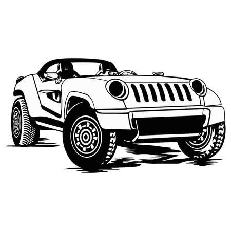 SUV CAR - Truck 4x4 Off Road - Off-road car for tshirt and emblem