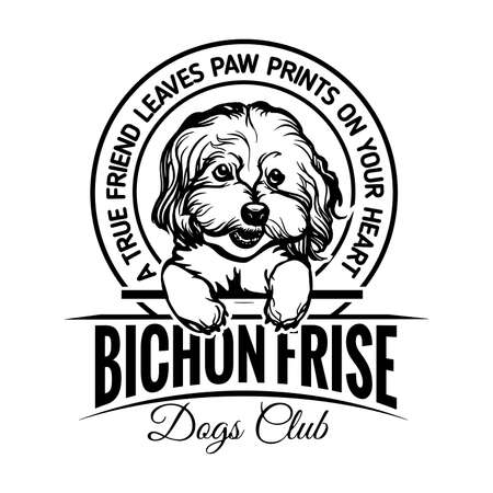 Bichon Frise Dog - Dog Happy Face Paw Puppy Pup Pet Clip Art