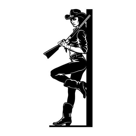 Bang-Bang cowgirl, Girl, Wild West , Cricut Silhouette svg, Vector Clip Art, Cut Ready Files