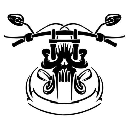 Motorcycle Logo Template - Sign Bike Motor, Motorbike Automotive Rider, Clipart Vector Cut Files