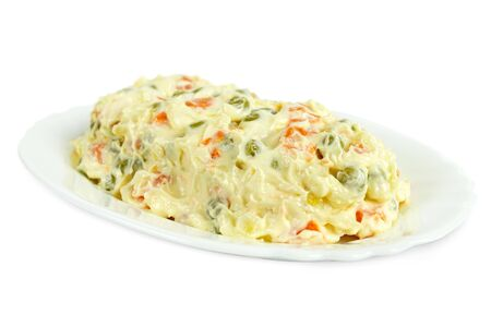 Italian food homemade salad starter. Isalata Russa (russian salad) a traditional piedmontese starter. Stockfoto