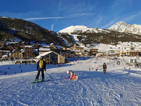 Montgenevre winter sports, ski and snowboard ski resort in France. Holiday estination white week