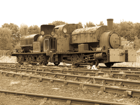 steam engines: rusty old steam engines Stock Photo