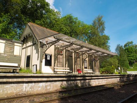 railway station: old scottish railway station Stock Photo