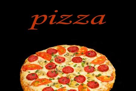 Pizza on a black background photo