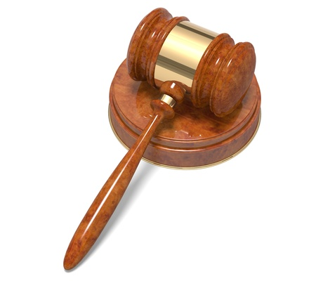 Wooden gavel