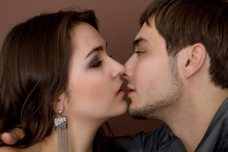 sexy young couple before kiss  Stock Photo - 9826119