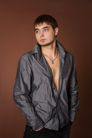 Young fashion man model with athletic body Stock Photo - 9826010