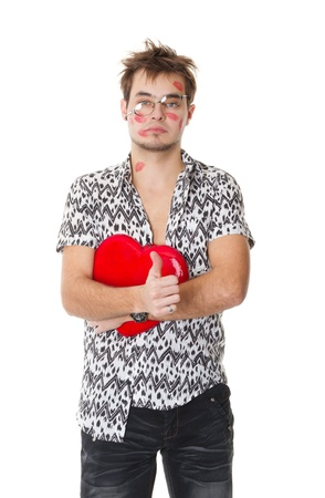 funny guy nerdy  in a Valentine's Day Stock Photo - 9824364