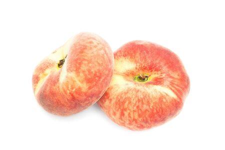 Paraguayan peaches isolated on white 版權商用圖片