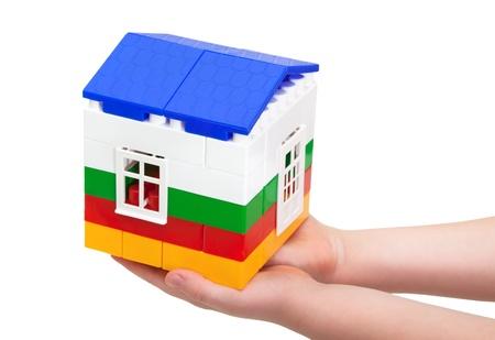 house of blocks in children 版權商用圖片
