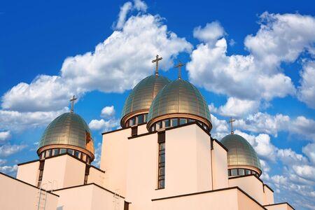 church domes against the blue sky