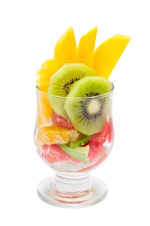 fruit dessert isolated on white