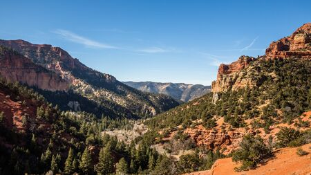 Brian Head resort is Utah's southern most ski area and offers mountain biking in the summer. Nearby many canyons like this with red rock cliffs offer Rock climbing and scenic views.