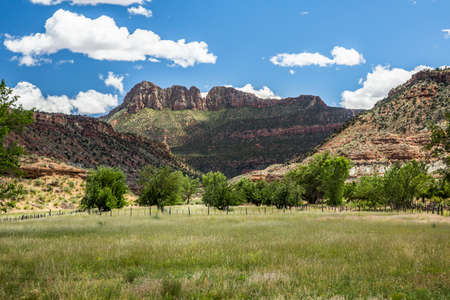 Just south of Springdale and Zion National Park, Smithsonian Butte stands high above the surrounding desert.