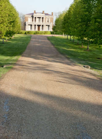 Vertical panorama of old historic southern mansion in Nashville, Tennessee