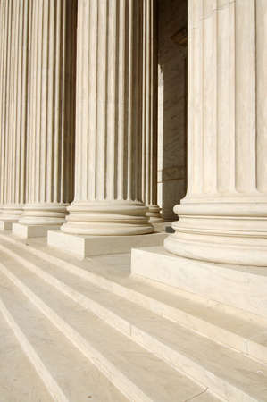 jurisprudence: Steps and Columns of United States Supreme Court Stock Photo