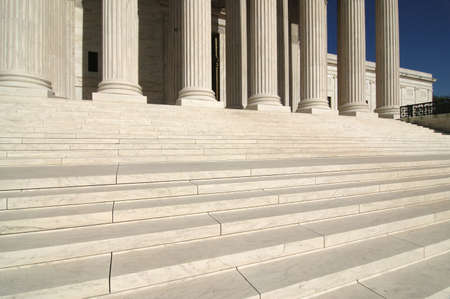 jurisprudence: Steps and Columns at the United States Supreme Court in Washington DC