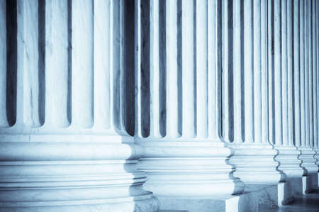 Columns at United States Supreme Court Stock Photo