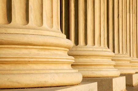 Columns at United States Supreme Court Banque d'images