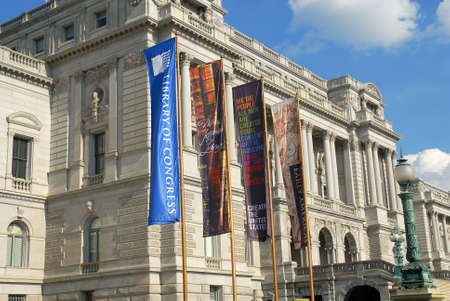 Colorful Banners at the Library of Congress in Washington, DC.