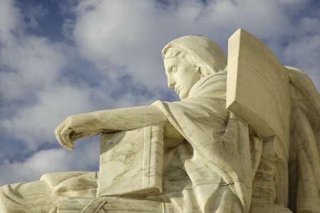 Statue at United States Supreme Court in Washington, DC. Stok Fotoğraf