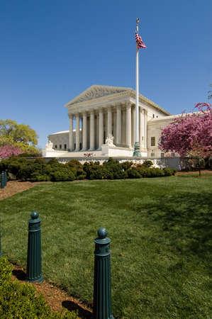 jurisprudencia: El Tribunal Supremo Builidng en Capitol Hill, que se muestra en la primavera