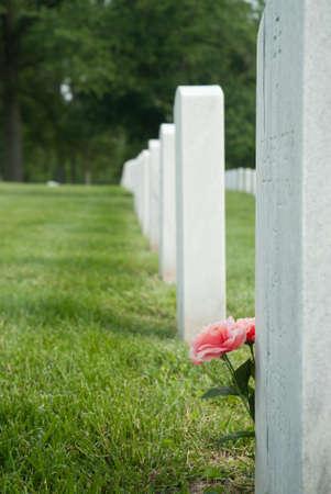 Grave at Zachary Taylor National Cemetery in Louisville, Kentucky Reklamní fotografie