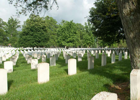taylor: Graves at Zachary Taylor National Cemetery in Louisville, Kentucky Stock Photo