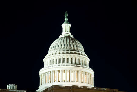 congressional: Dome of US Capitol Building in Washington, DC.  International symbol of democracy. Stock Photo
