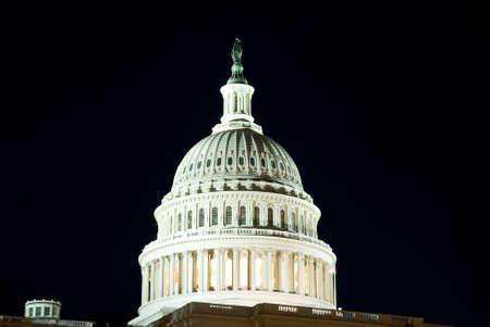 Dome of US Capitol Building in Washington, DC.  International symbol of democracy. Stok Fotoğraf