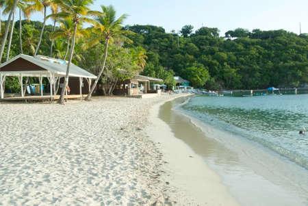 Honeymoon Beach on Water Island, U.S. Virgin Islands. Beautiful Caribbean beach.