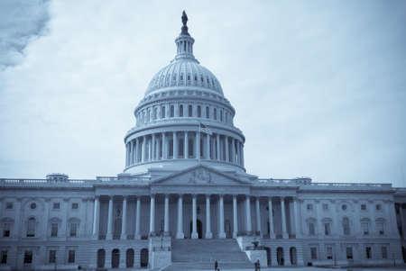 debates: Seliniumtoned image of United States Capitol Building in Washington D.C.