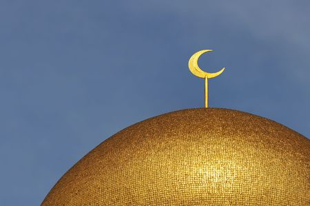 Crescent Moon on Mosque Dome photo