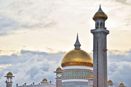 ali: The Omar Ali Saifuddien Mosque in Bandar,  Brunei (Borneo). Stock Photo