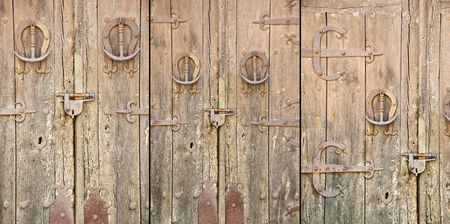 Old door in rural Spain. 3 variations. photo