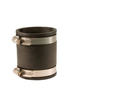 rubber coupling isolated over white background