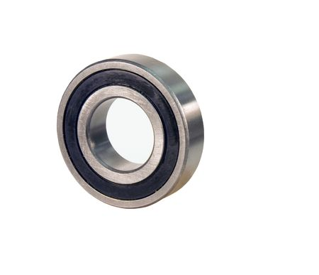 Sealed ball bearing isolated over a white background