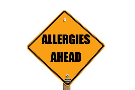 allergieën waarschuwing teken
