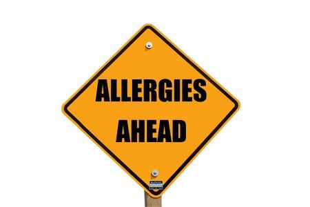 signo de advertencia de alergias  Foto de archivo