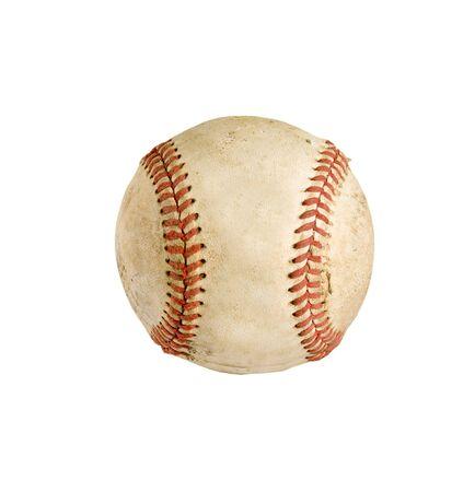 vintage baseball isolated over white background Stock Photo - 7158078